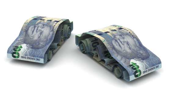 money shaped as cars